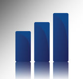 Graph chart. Going up success and growth Royalty Free Stock Image