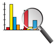 Graph chart analysis Stock Images