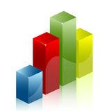 Graph chart diagram Stock Image