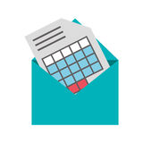 Graph chart and envelope icon Royalty Free Stock Photo