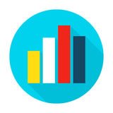 Graph Chart Flat Circle Icon Stock Photo