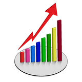 Graph chart  graphs business Stock Photos