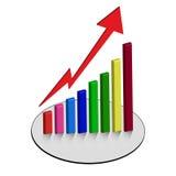 Graph chart  graphs business. Graph chart bar  graphs business Stock Photos