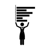 Graph chart icon image. Bar graph chart icon image vector illustration design Stock Photography