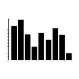 Graph chart icon image. Bar graph chart icon image vector illustration design Stock Images