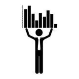 Graph chart icon image. Bar graph chart icon image vector illustration design Stock Photos