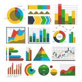 Graph chart icons vector. Royalty Free Stock Photo