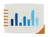 Graph, chart. Infographic elements. Stock Photography