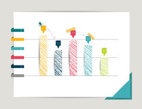 Graph, chart. Infographic elements. Royalty Free Stock Photos