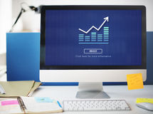 Graph Chart Invest Report Icon Concept Royalty Free Stock Photography