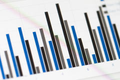 Graph Chart on Monitor Screen Stock Photos
