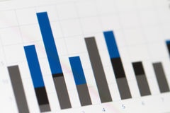 Graph Chart on Monitor Screen Stock Photography