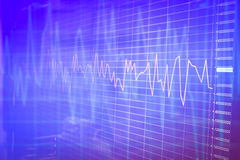 Graph chart of stock market investment trading. Background Royalty Free Stock Images