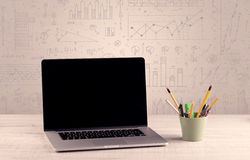 Free Graph Charts And Designer Office Desk Royalty Free Stock Photos - 68399008