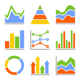 Graph and Charts, Diagrams. Infographic Set. Elements. Vector illustration Royalty Free Stock Photos