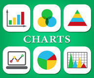 Graph Charts Means Statistic Infograph And Graphics Royalty Free Stock Images