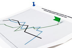 Graph with check box Stock Photography