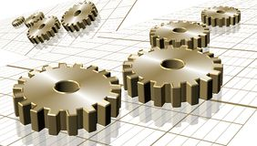 Graph and cogs Stock Image