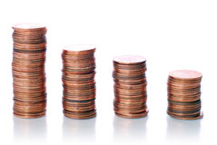 Graph coin Stock Photography