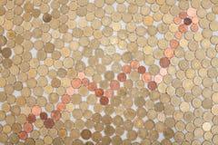 Graph of coins Royalty Free Stock Photos