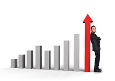 Graph column Stock Photos