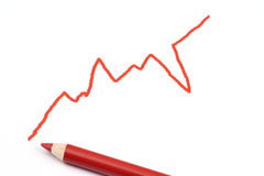 Graph. Company growth Stock Photos