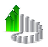 Graph cycle illustration design Stock Photography