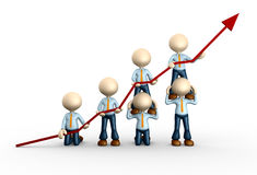 Graph. 3d people - man, person with financial graph Stock Image