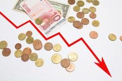 Graph decrease Stock Photos
