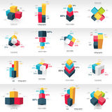 Graph design 3d info graphic template Stock Images
