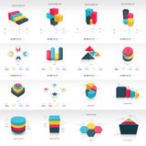Graph design 3d info graphic template Royalty Free Stock Image