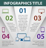 Graph design infographics template Stock Image