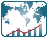 Graph of development Royalty Free Stock Image