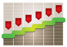 Graph of development Stock Images