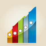Graph of development Royalty Free Stock Photos