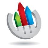 Graph of development Stock Photo