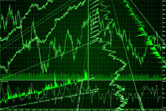 Graph, diagram (abstraction) Royalty Free Stock Photography