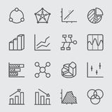 Graph and Diagram line icon 1 Royalty Free Stock Photo