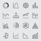 Graph and Diagram line icon 2. Business Graph and Diagram line icon 2 Stock Image