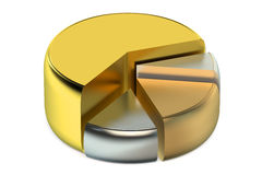 Graph diagram pie chart 3d Royalty Free Stock Image