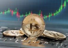 Bitcoin value royalty free stock image