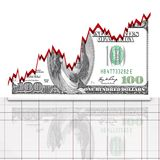Graph dollar concept Royalty Free Stock Photos