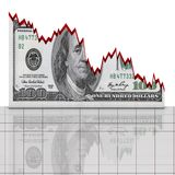 Graph dollar concept Stock Images