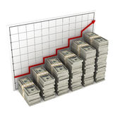 Graph dollars Stock Image