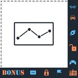 Graph down icon flat. Graph down. Perfect icon with bonus simple icons vector illustration