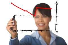 Graph drawing Royalty Free Stock Photography
