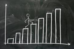 Graph drawing Stock Photos