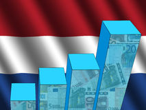 Graph with Dutch flag Stock Images