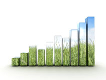 Graph eco concept Stock Photography