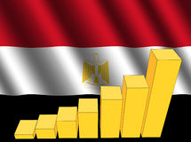 Graph on Egyptian flag Stock Photo